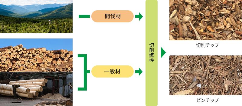 間伐材由来・一般木質バイオマス燃料